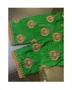 Hand Embroidery Design Patterns, Aari Embroidery, Hand Embroidery Videos, Embroidery Stitches, Cutwork Blouse Designs, Best Blouse Designs, Blouse Neck Designs, Magam Work Designs, Hand Designs