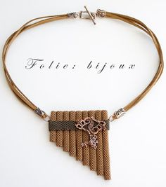 "Folie beads jewelry: necklace ""The Pipe"""