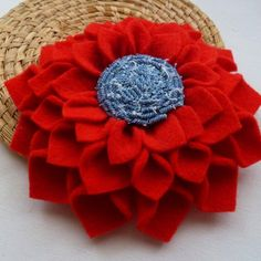 Fabric flower tutorial Cool Felt Dahlia PDF , instructions and just print real size petals pattern - flower accessories