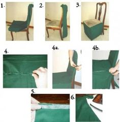 HOW TO MAKE A DINING CHAIR COVER