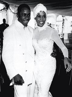 Recording artist and actress Whitney Houston and R singer Bobby Brown were married 1993-2007.