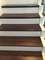 Interior wooden stairs, made of solid oak or beech wood. Solid wood interior stairs made to order according to the requested size and model. Diy Wood Floors, Painted Wood Floors, Flooring For Stairs, Hardwood Stairs, Wood Staircase, Wooden Stairs, Basement Stairs, Staircase Design, Wood Planks