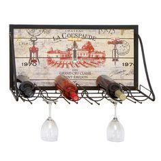 Found it at Wayfair - Urban Chateau La Couspaude 6 Bottle Hanging Wine Rack