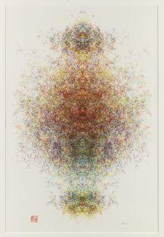 roman verostko | Roman Verostko, Untitled , 1990, plotter drawing, ink on paper, 31 3/4 ...