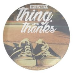 In Everything Give Thanks Plate  sc 1 st  Pinterest & Thanksgiving Plastic Plate #thanksgiving | All About Thanksgiving ...