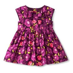 Infant Toddler Girls' Floral Bow Dress