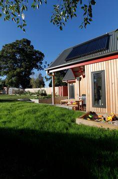 Sandpit and solar panels. Cygnet Residence. Design & Build. (New House) 2011.