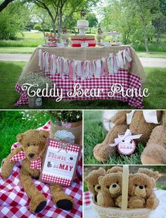 CUTE #Teddy Bear Picnic #Birthday Photos + #Inspiration! #partyfoods #snacks #treats #themeparty