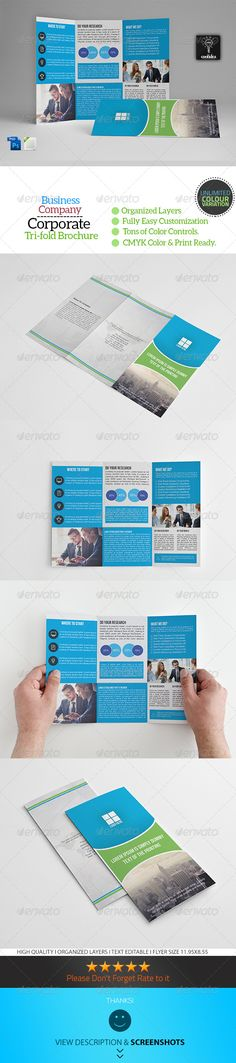 A4 Trifold Business Brochure Template Vol08 - Corporate Brochures