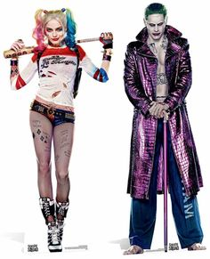 Harley Quinn and The Joker Suicide Squad Movie Lifesize Cardboard Cutout / Standee / Stand Up Twin Pack fantasias arlequina Harley Quinn and The Joker Suicide Squad Movie Lifesize Cardboard Cutout / Standee / Stand Up Twin Pack Harley Quinn Et Le Joker, Margot Robbie Harley Quinn, Harley Quinn Cosplay, Joker Cosplay, Harley Quinn Tattoo, Harley Quinn Drawing, Maquillage Harley Quinn, Harley Quinn Disfraz, Arley Queen