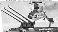 "Forward 11"" gun turret of German pocket battleship Admiral Graf Spee #9B"