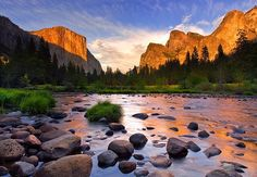 Glow after the storm, Yosemite National Park, California.  National Parks: ♥