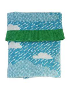 Rainy day mini deken blauw