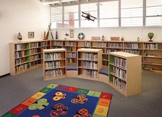 Looking to develop more engaging and interactive spaces for children of all ages? This webinar can help you utilize best practices for space planning, technology integration and design at your library. School Library Design, Elementary School Library, Home Library Design, Kids Library, Library Room, Classroom Design, Library Ideas, Design Desk, Dream Library