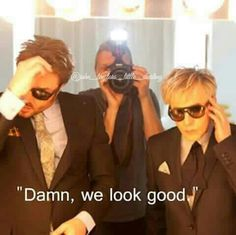 Paper Magazine, We look good, Nick Rhodes & Simon Le Bon, Duran Duran, meme by John Taylor's Little Darling