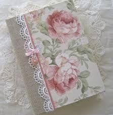 Image result for cadernos encapados com tecido e renda
