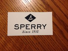 Sperry sticker