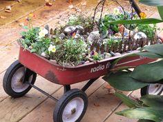 Radio Flyer Wagon Fairy Garden