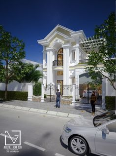 Binh Phuoc House - Viet Nam on Behance Dream House Plans, Small House Plans, Indian House Plans, French Country Living Room, House Front Design, Indian Homes, House Elevation, Spanish House, House Entrance