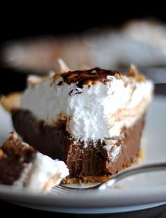 Chocolate Cream Pie with a Toasted Marshmallow Topping