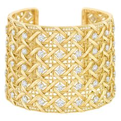 My Dior - Cuff bracelet in 18K yellow gold and diamonds. Discover more on www.dior.com