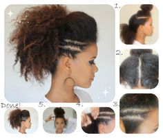 Natural Hair Tutorial | faux hawk