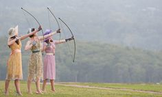 'Love's Labour's Lost,' at Hudson Valley Shakespeare Festival Archer Pose, Shakespeare Festival, Bold And The Beautiful, Beautiful Things, Archery Bows, Traditional Archery, Bow Hunting, Mischief Managed, Historical Costume