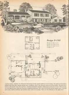 Vintage House Plans: Multi Level Homes Part 3
