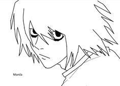 L (Ryuzaki) from Death Note.