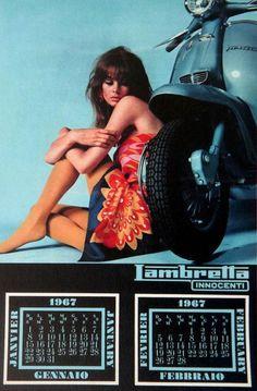 Jean Shrimpton 1967 Lambretta Calendar