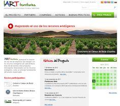 Portal del proyecto de colaboración europea IART TERRITORIES.