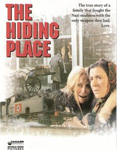 The Hiding Place (1975)...A great movie! In World War II-era Holland, Corrie ten Boom  and her family of Christian watchmakers are quietly sheltering Jews in their small house. But when the Nazis discover the family's secret, it could mean certain death for everyone. Based on a true story, this gripping drama follows Corrie and her sister  as they endure the horrors of a concentration camp. Cast:Julie Harris, Jeannette Clift, Eileen Heckart...3,5
