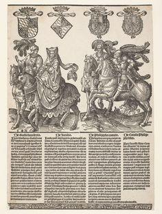 Willem VI, Jacoba van Beieren, Filips de Goede en Karel de Stoute, Jacob Cornelisz. van Oostsanen, 1518