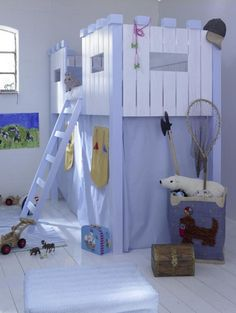 love this loft bed and looks easy enough to make