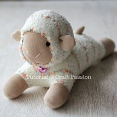 Free pattern and tutorial on how to sew sock sheep with 2 single socks. Use a chenille microfiber sock to resemble the fluffy fur of the sheep. – Page 2 of 2