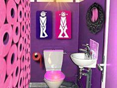 Deco toilette ambiance disco toilet urinals
