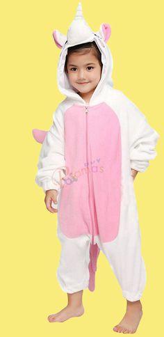 08dcd91571 PajamasBuy - Kids Onesies Hoodie Pink Unicorn Animal Pajamas Kigurumi Costume  christmas