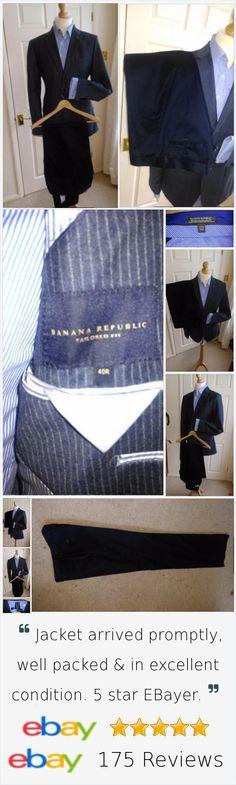 69.99 Mens BANANA REPUBLIC 2 Piece Suit Chest 40R: 34W X 34L. #fashion #fashionwear #menwear #menstyle #wedingsuit #menstyle