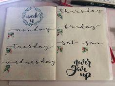 Week bullet journal