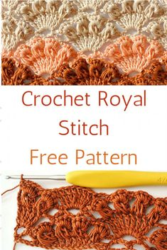 Learn A New Crochet Stitch: Crochet Royal Stitch - Knit And Crochet Daily This is sooo beautiful! The Crochet Royal Stitch is a pattern that uses long loop stitches and tre Beau Crochet, Crochet Motif, Crochet Shawl, Knit Crochet, Treble Crochet Stitch, Crochet Stitch Tutorial, Crochet Tank, Chrochet, Crochet Stitches Patterns