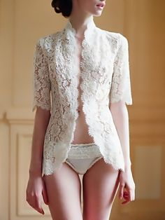 Fashionable lace top, looks like its quite doable to make it yourself.