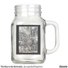Start designing your own William Morris Mason jar today with Zazzle! Make a statement at your next event with these unique favors made just for you! Mason Jar Glasses, Mason Jar Gifts, Mason Jar Diy, Alice In Wonderland Mug, Adventures In Wonderland, Purple Mason Jars, Flowers For Mom, Drinking Jars, Green Carpet