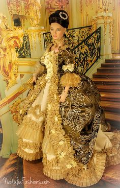 """Tonner OOAK outfit """"Madame de Pompadour"""" by Natalia Fashions (Model is Angelina Too Sweet)"""