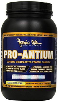 Ronnie Coleman Signature Series Pro-Antium, Great Tasting Supreme Multifaceted Protein Powder, Vanilla Wafter Crisp, 2 Pound * Find out more about the great product at the image link.