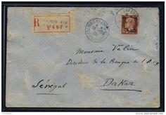 VENTE FLASH Lot B_068 - 1929 - CAISSE D´AMORTISSEMENT N°255 SEUL SUR LSC  RECOMMANDÉE DE PARIS À DAKAR, SÉNÉGAL