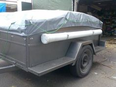 a look around my camper trailer Dirk's DIY camper trailer Pop Up Tent Trailer, Diy Camper Trailer, Off Road Trailer, Tent Campers, Camper Van, Diy Roof Top Tent, Diy Tent, Teardrop Trailer, Hunting Blinds