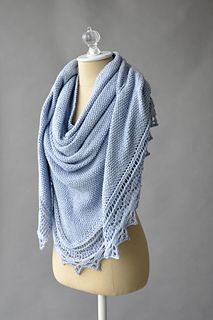 Free Pattern - the Soothing Shawl is sized from regular shawl-sized to almost blanket-sized. Designed for Fibra Natura Papyrus