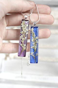 Gift for women fashion necklace Pretty purple by KvitkaSonze