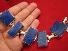 Nepal Natural Lapis Lazuli Citrine Pendant Jewelry Sterling Silver Handmade