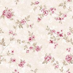 Papel de Parede Floral Rosa Delicado